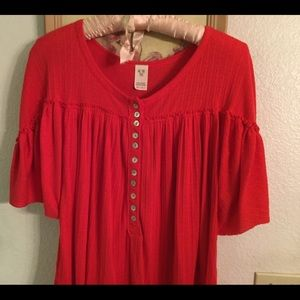 Free People tunic top, oversized XS.